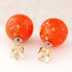 Boucles d'oreille perles orange Aiyala