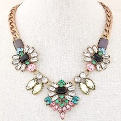 collier multicolore cristal Allan