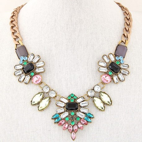 collier multicolore cristal