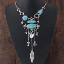 Collier couleur turquoise mode Addan