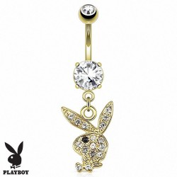 Piercing nombril Playboy plaqué or Akisumi