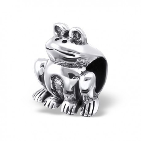 Charms grenouille argent