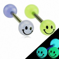 Piercing langue boule Smiley modèle Blagoy