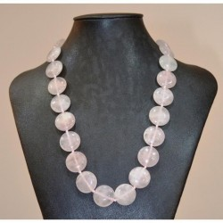 collier en quartz rose modèle Brandt