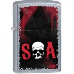 Briquet essence Zippo Sons Of Anarchy SAMCRO SOA avec crane à la place du O
